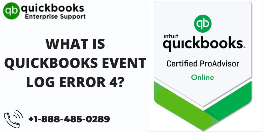 What is QuickBooks event log Error 4