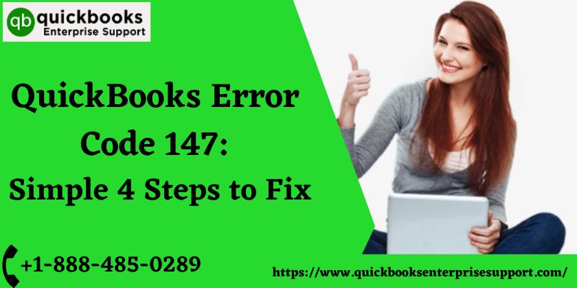QuickBooks Error Code 147 Simple 4 Steps to Fix