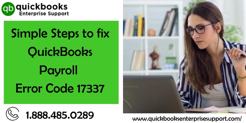 QuickBooks Payroll Error Code 17337