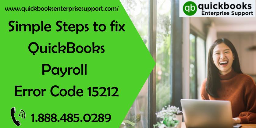 QuickBooks Payroll Error Code 15212