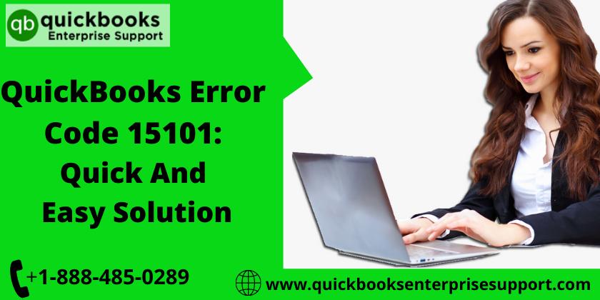 QuickBooks Payroll update Error Code 15101