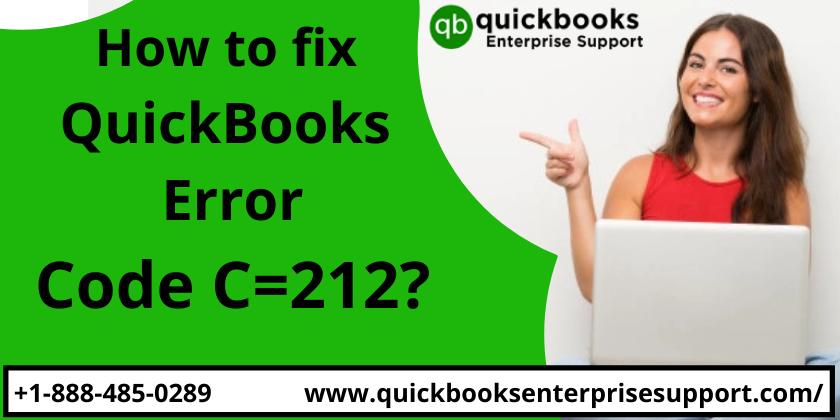 Simple 2 Steps to fix Quickbooks Error Code C=212