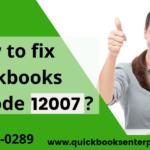 QuickBooks Update Error Code 12007