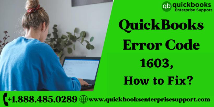 How to Fix QuickBooks Error Code 1603